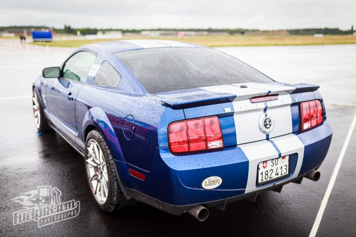 House of Shelbys-US-Car Dragrace Flugplatzrennen auf dem Army Airfield in Kitzingen Shelby GT 500 KR 2008 Anniversary Edition
